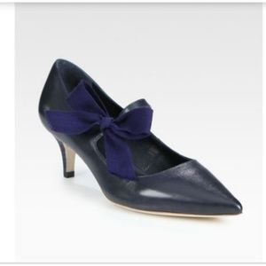 Tory Burch Beverly mary jane pumps 7.5 M navy blue